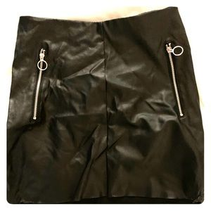Cool faux leather skirt
